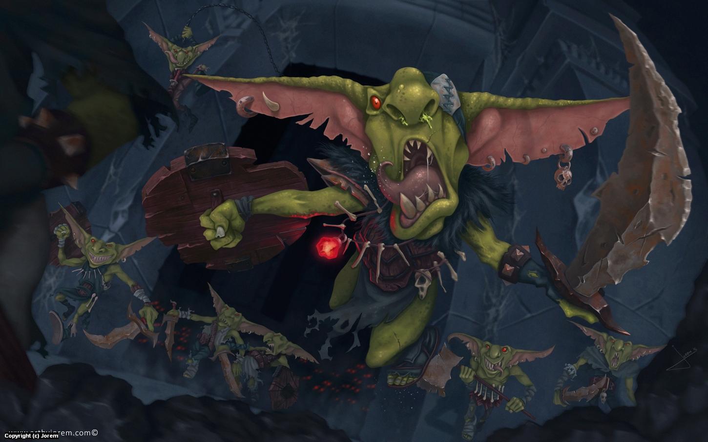 When Goblins Dare.... Artwork by Jorge