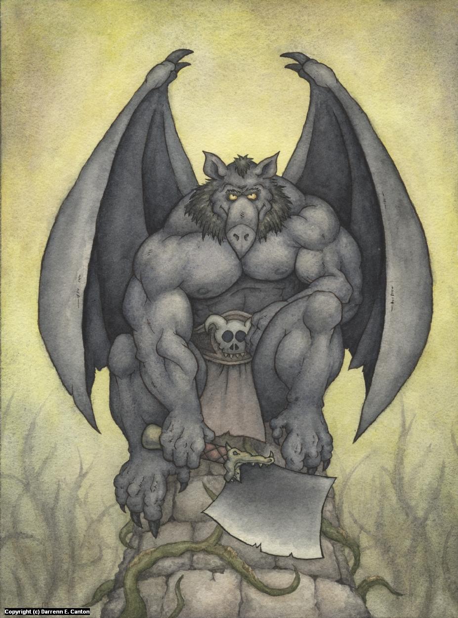 Gargoyle Artwork by Darrenn Canton