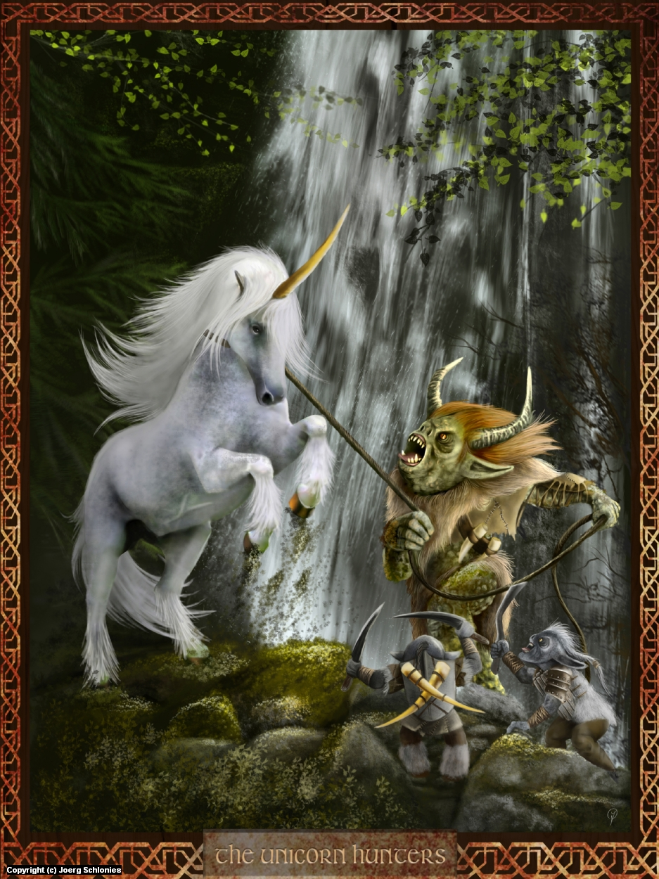 The Unicorn Hunters Artwork by Joerg Schlonies