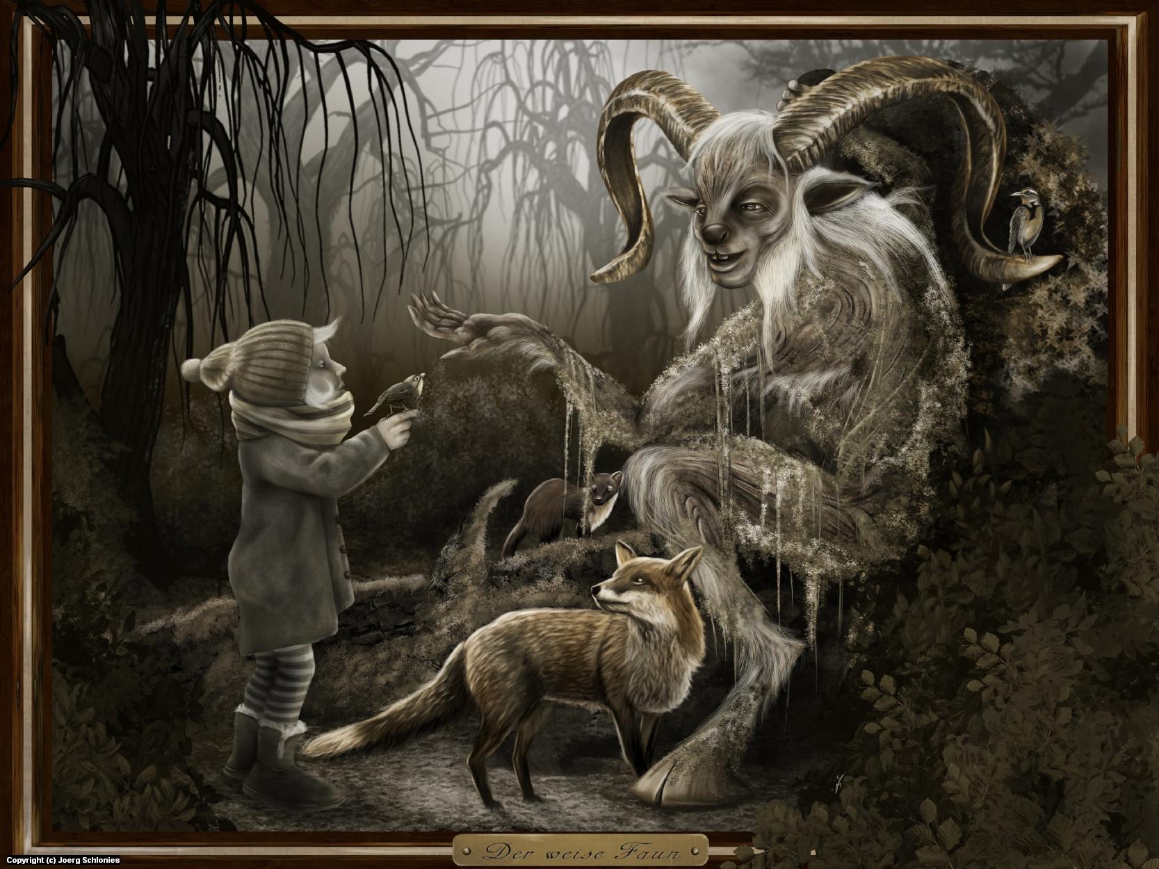 Der weise Faun (The wise Faun) Artwork by Joerg Schlonies