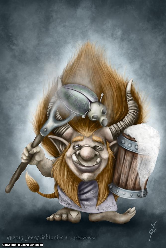 BBQ Troll Artwork by Joerg Schlonies