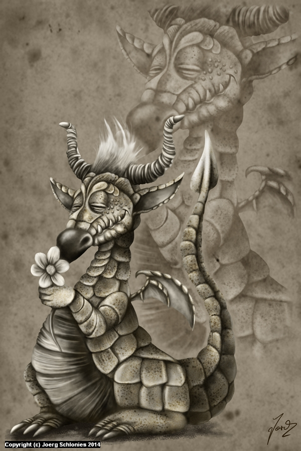 The Flowerdragon Artwork by Joerg Schlonies