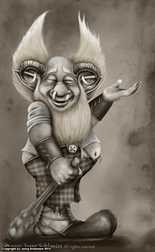 The Troll Artwork by Joerg Schlonies