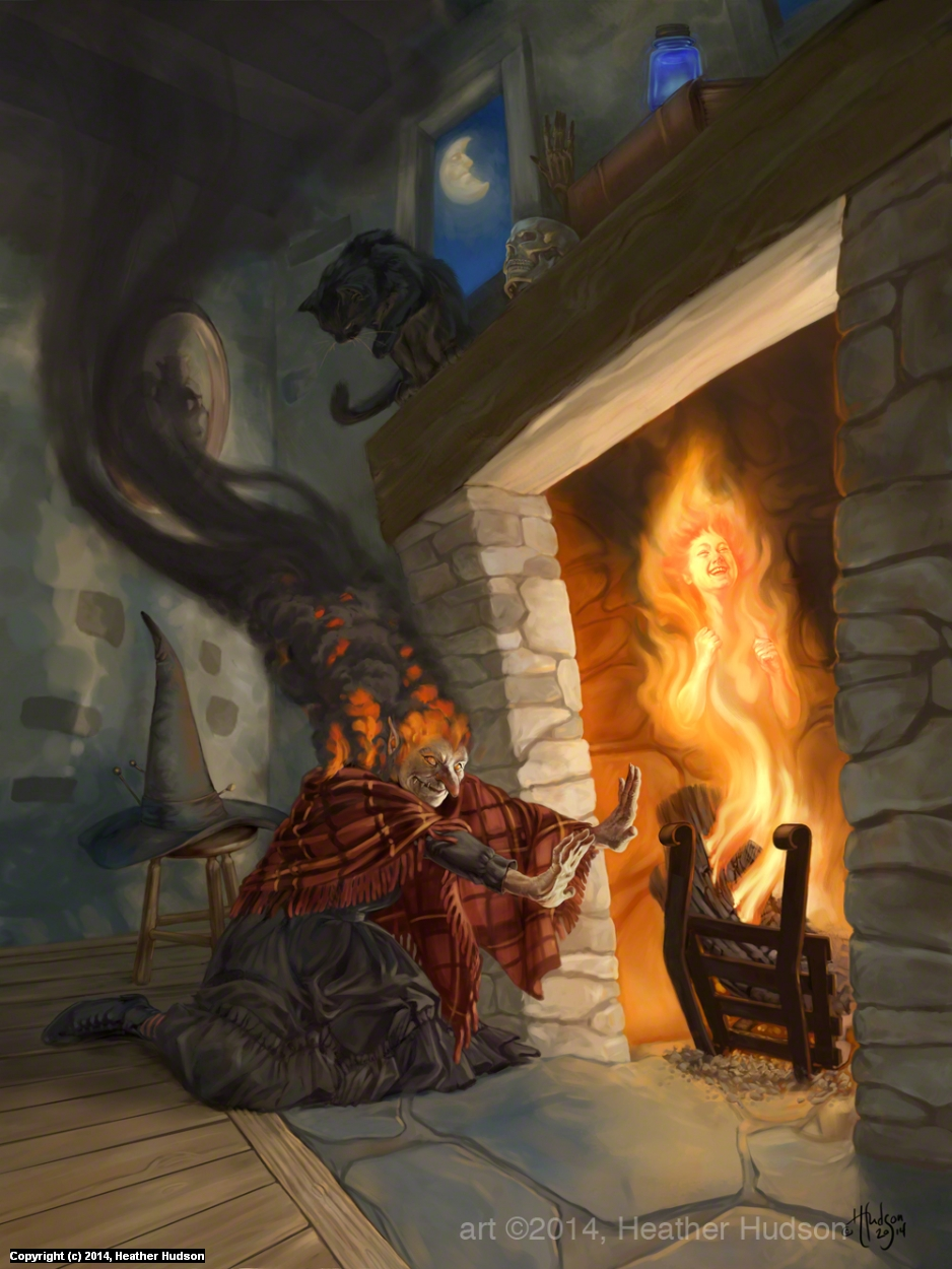 The Old Witch Artwork by Heather Hudson