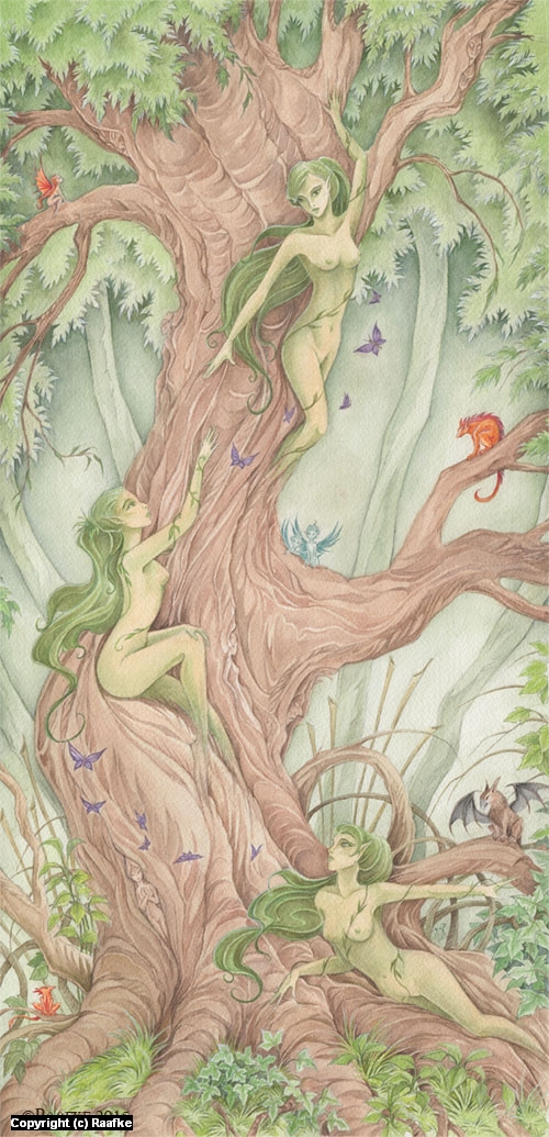 The Dryad Tree Artwork by Inge Geertsma