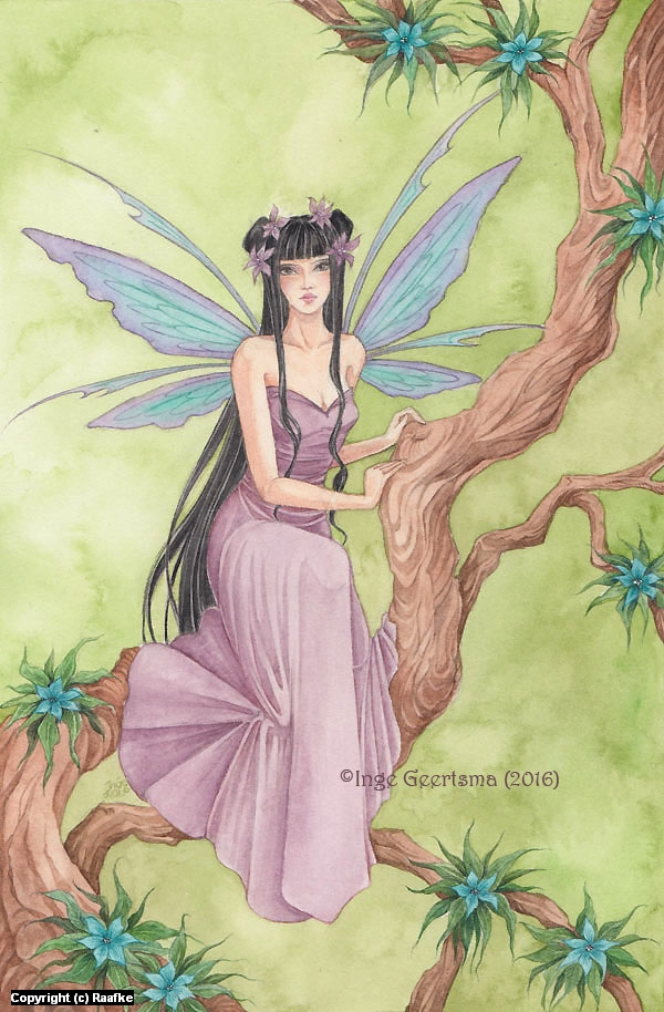 Flower Fairy Artwork by Inge Geertsma