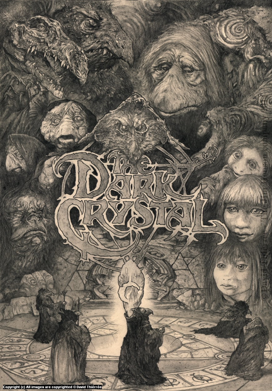 Dark Crystal Artwork by David Thiérrée