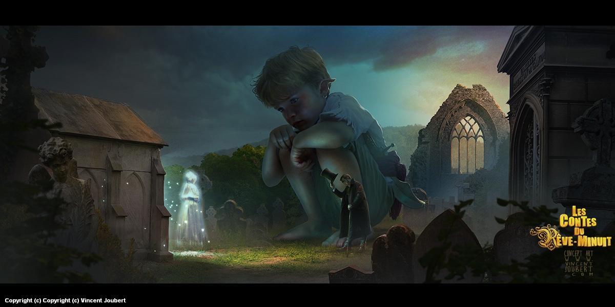 the cimetery Artwork by vincent joubert