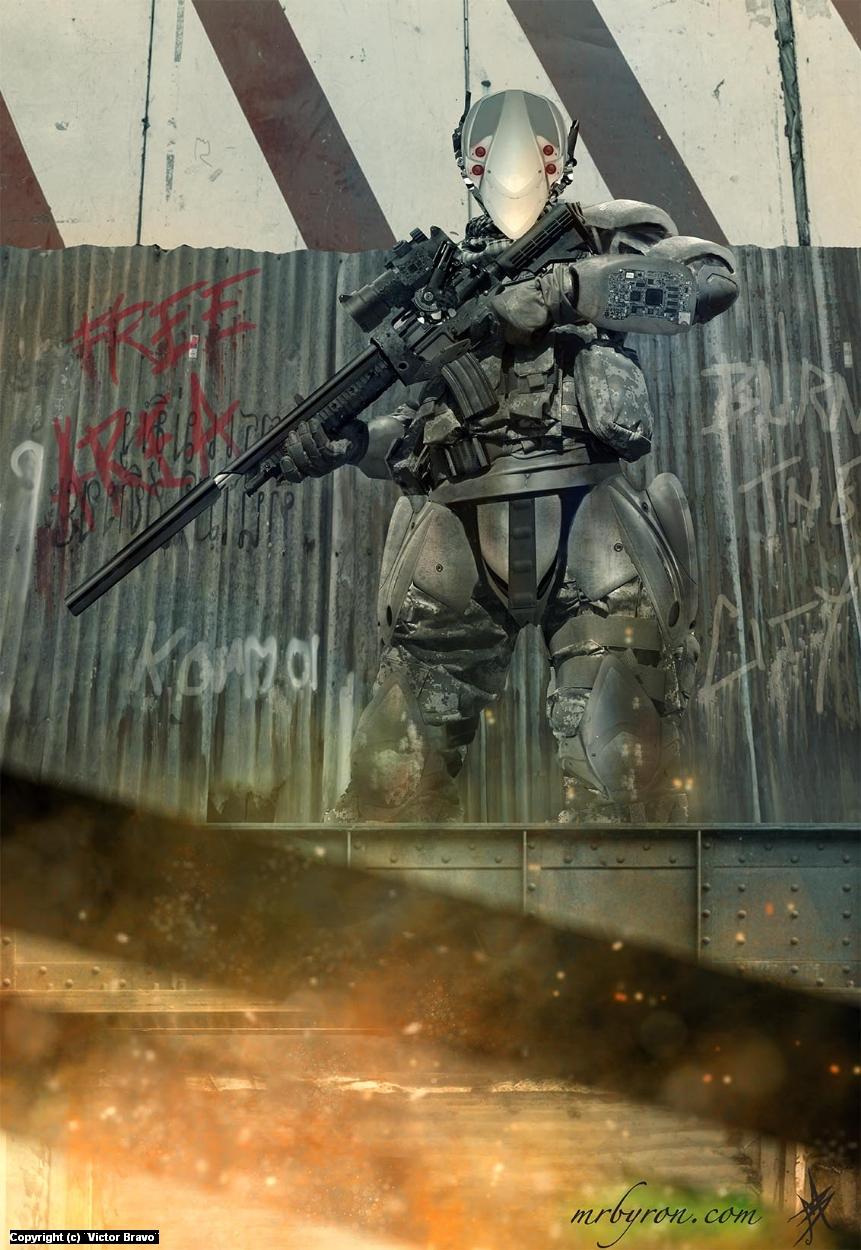 Rebeld Soldier Artwork by Victor Bravo