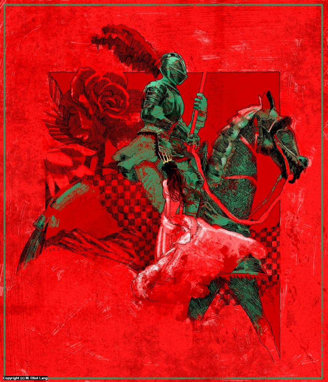 Gawain and Morgause Artwork by Elliot Lang