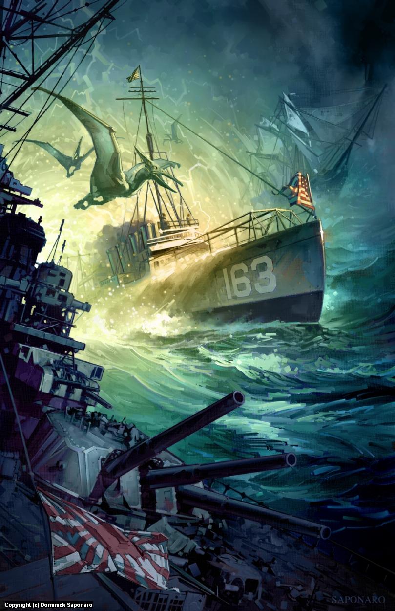 Destroyermen:  Unknown Seas Artwork by Dominick Saponaro