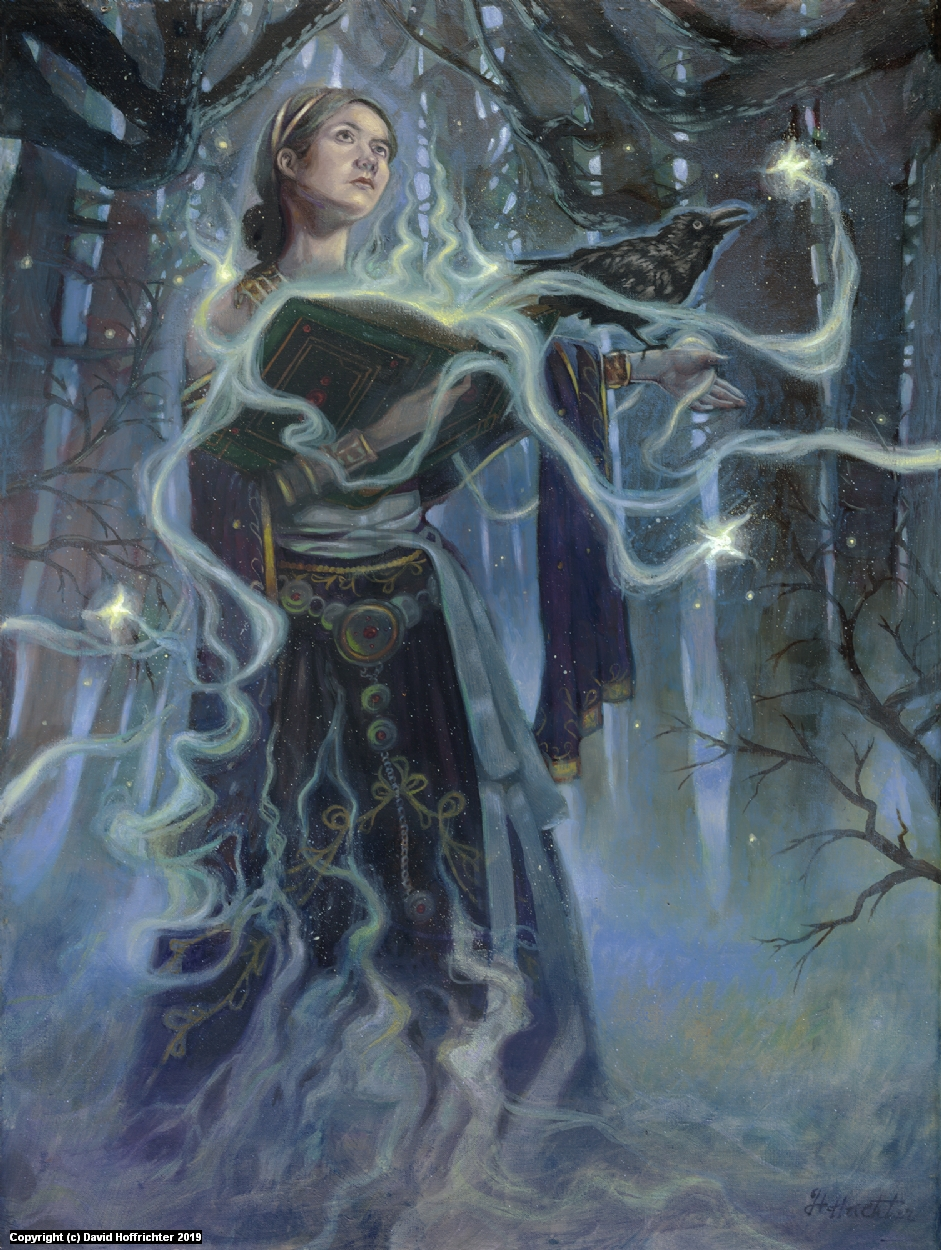 Morgana and the Fey Artwork by David Hoffrichter