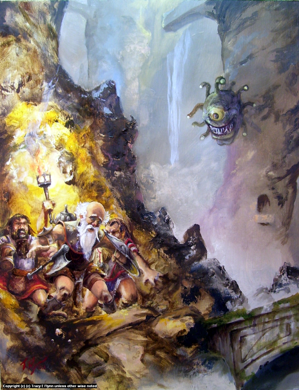 DWARFS IN THE CAVERN OF DOOM Artwork by Tracy E Flynn