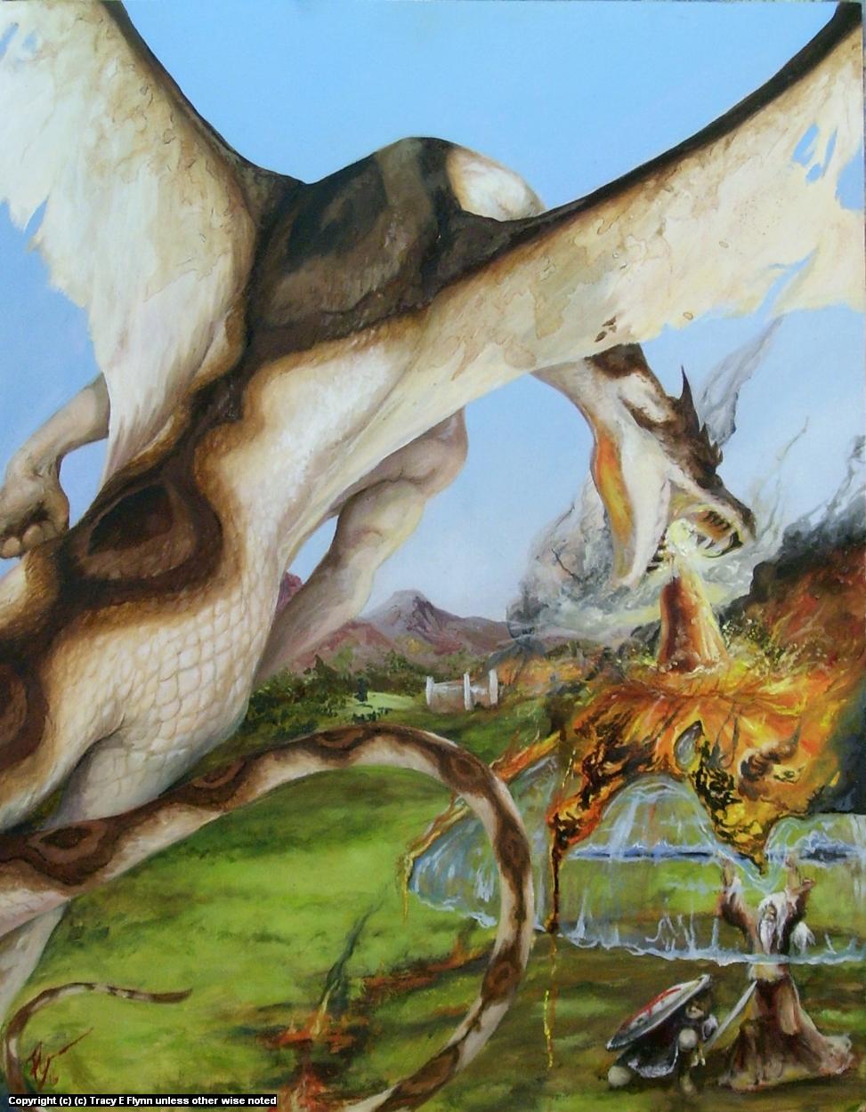 DRAGONS BREATH Artwork by Tracy E Flynn