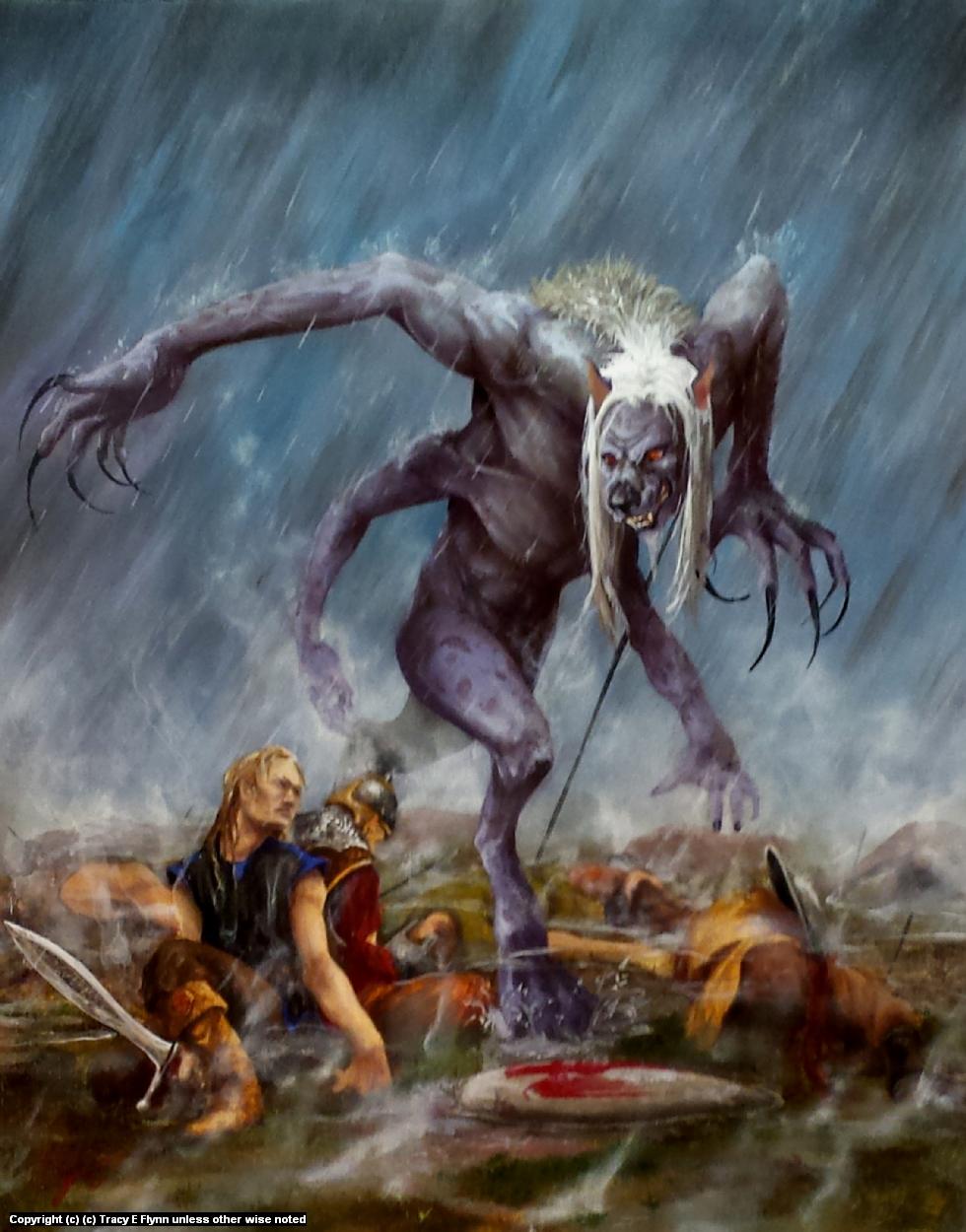 Demon Hunter Artwork by Tracy E Flynn