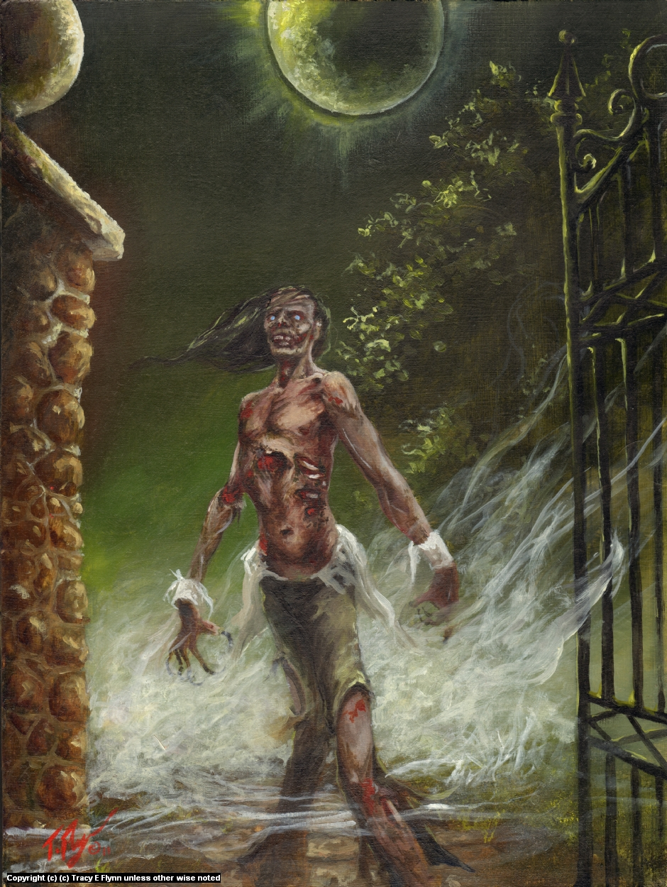 ZOMBIE MOON Artwork by Tracy E Flynn