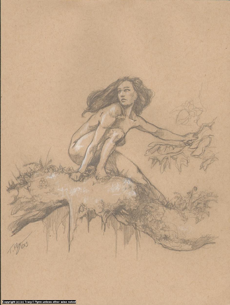 Girl On A Limb Artwork by Tracy E Flynn