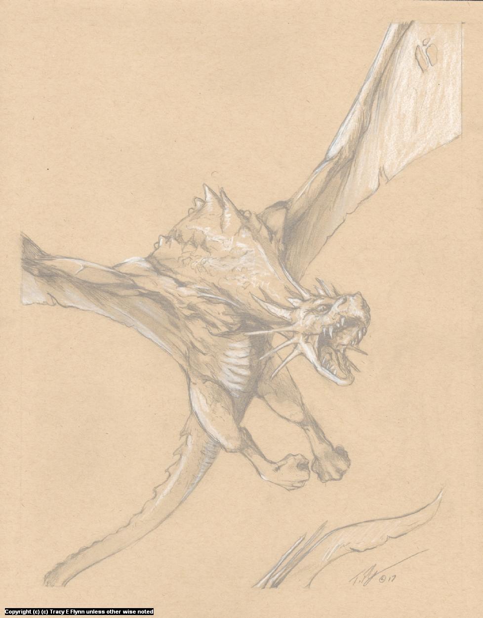DRAGON FLIGHT Artwork by Tracy E Flynn