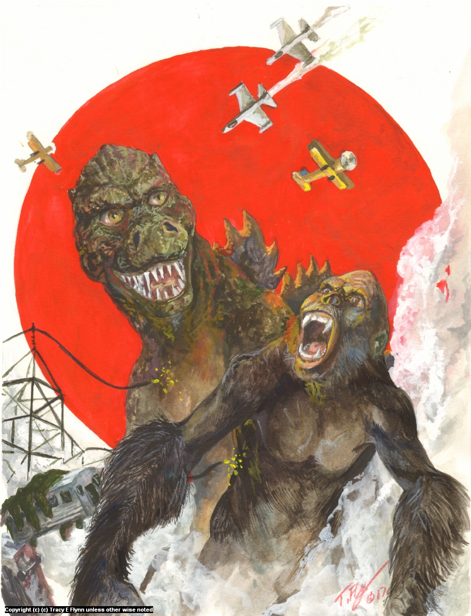 KONGZILLA Artwork by Tracy E Flynn