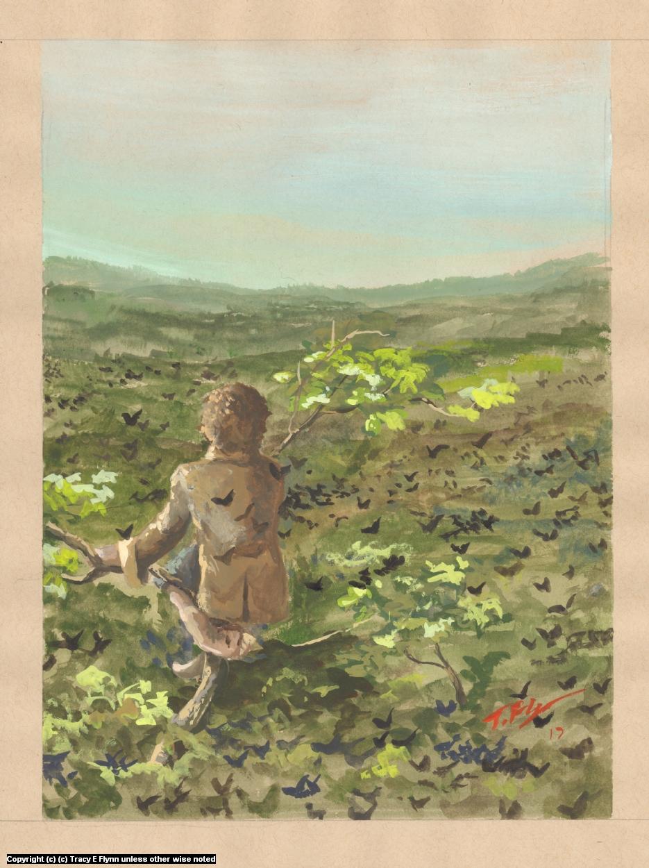 Bilbo Attop Mirkwood Artwork by Tracy E Flynn