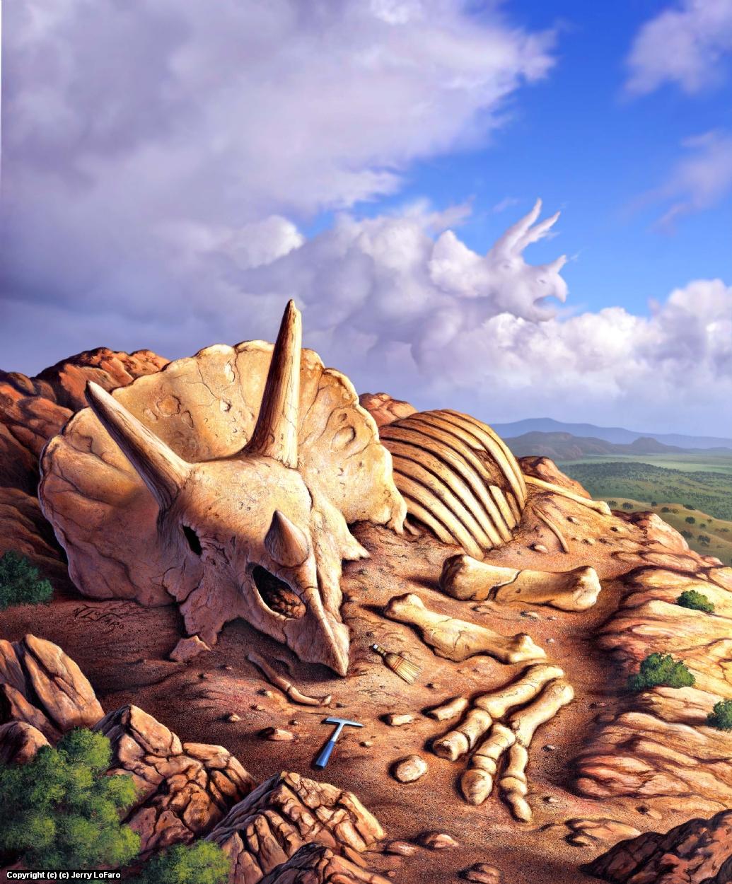 Dino Dig Artwork by jerry lofaro