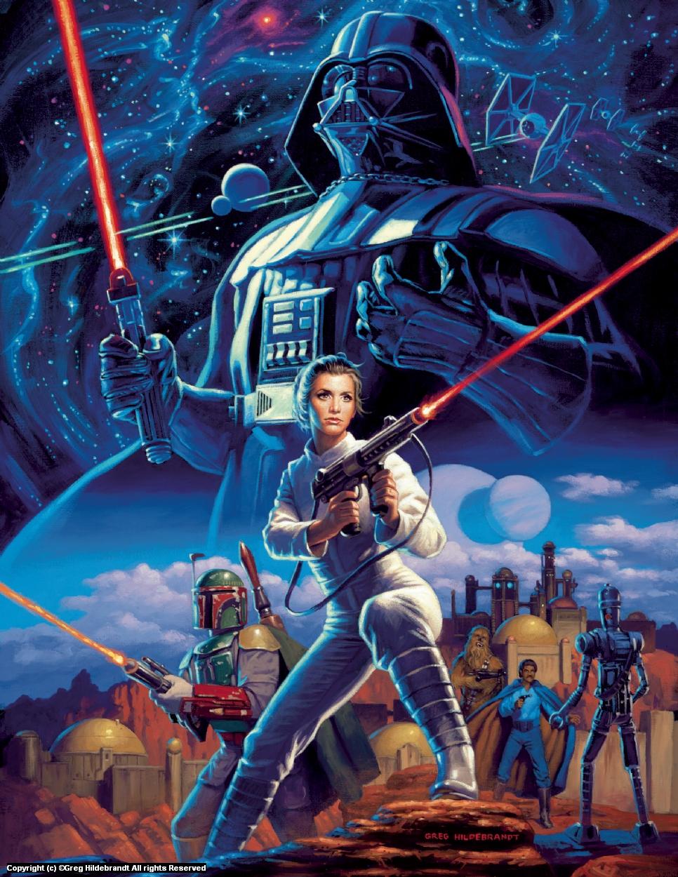 Star Wars - Marvel Cover #2 - SOLD Artwork by Greg Hildebrandt