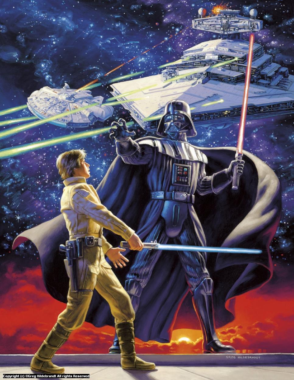 Star Wars - Marvel Cover #1 - SOLD Artwork by Greg Hildebrandt