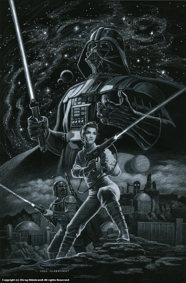 Star Wars - Marvel Cover #2 - BLACKBOARD - SOLD Artwork by Greg Hildebrandt