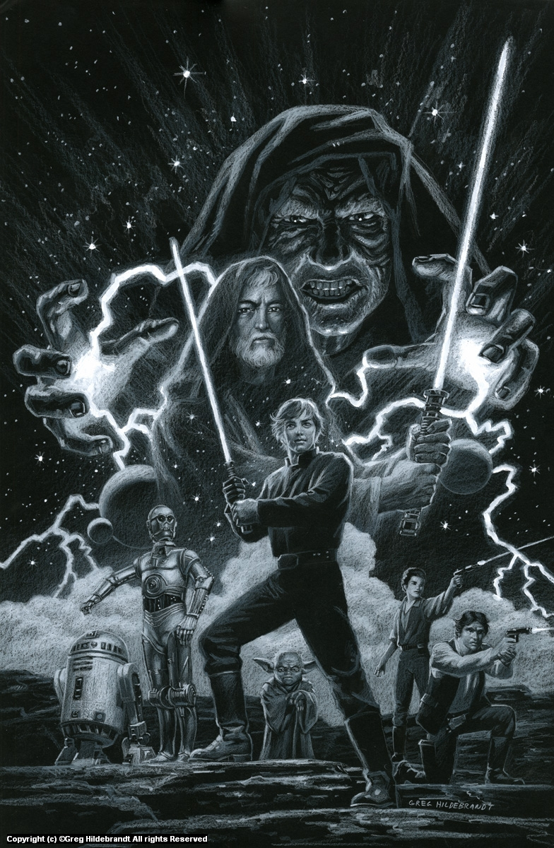 Star Wars - Marvel Cover #3 - BLACK BOARD - SOLD Artwork by Greg Hildebrandt