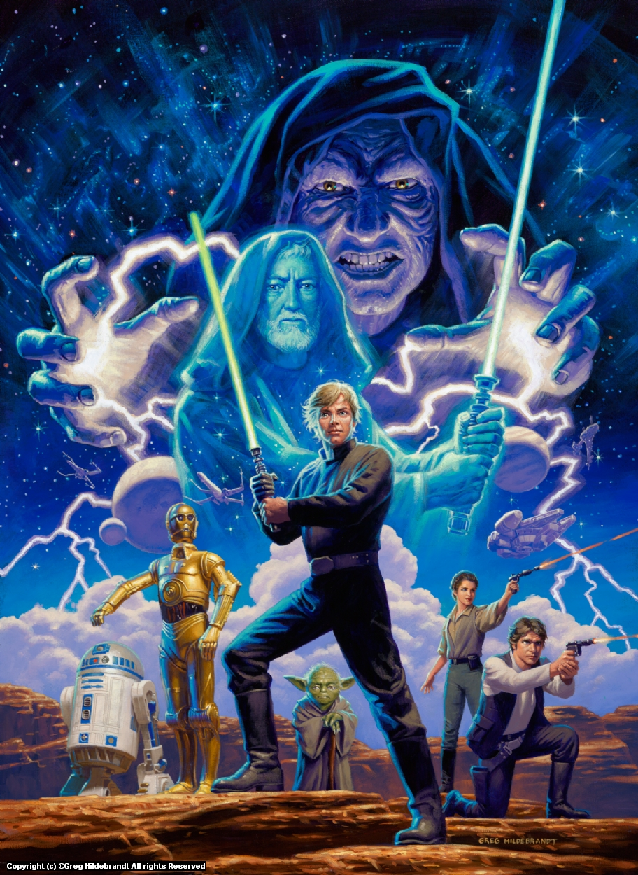 Star Wars - Marvel Cover #3 - SOLD Artwork by Greg Hildebrandt