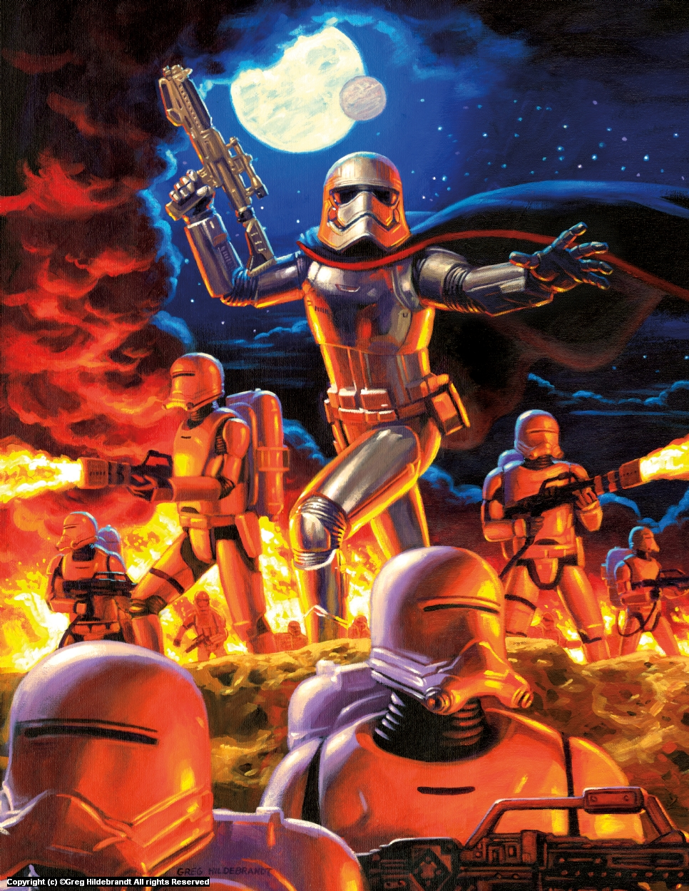 Captain Phasma - Marvel Cover Artwork by Greg Hildebrandt