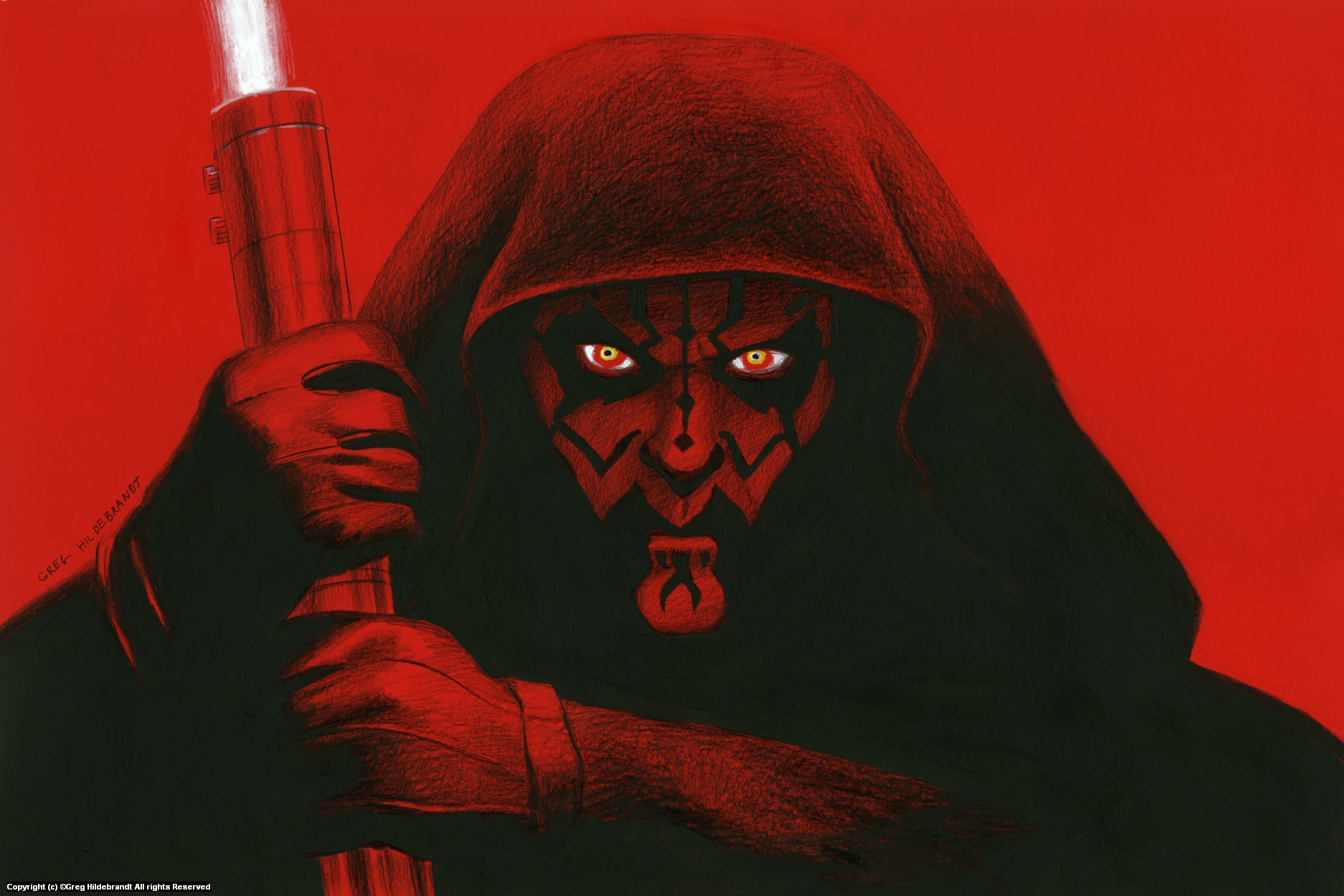 Darth Maul - Version 2 Artwork by Greg Hildebrandt