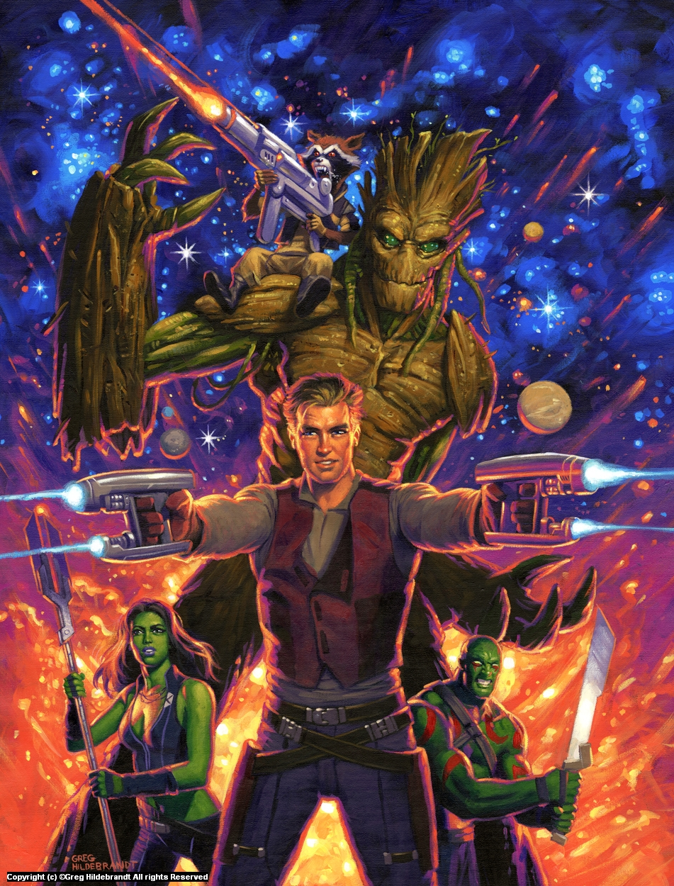 Guardians of the Galaxy -Marvel Variant Cover  Artwork by Greg Hildebrandt