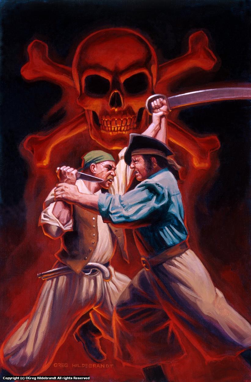 Treasure Island Cover #4 Artwork by Greg Hildebrandt