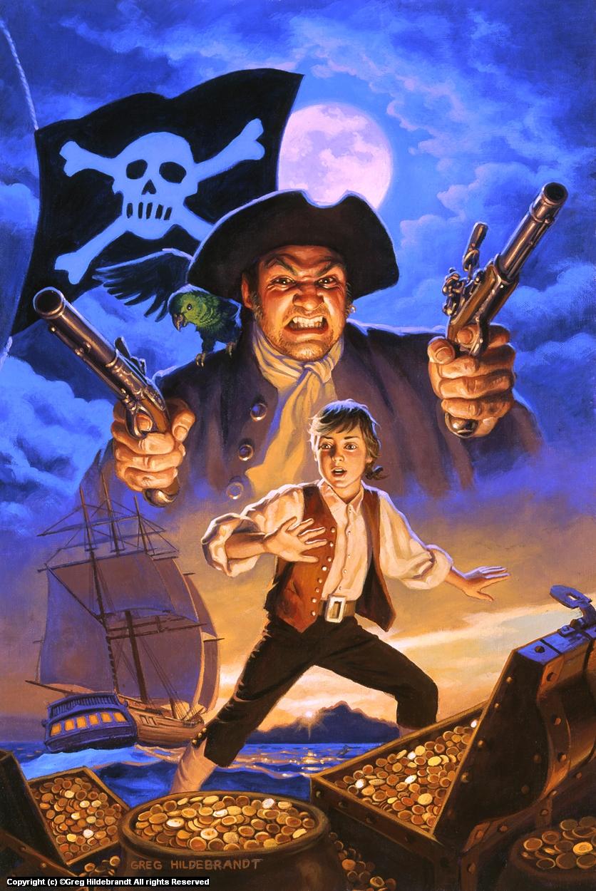 Treasure Island Cover #1 Artwork by Greg Hildebrandt