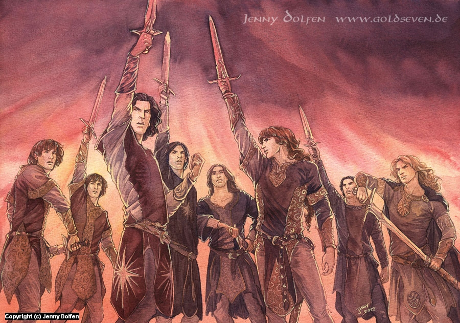 The Oath of Feanor Artwork by Jenny Dolfen