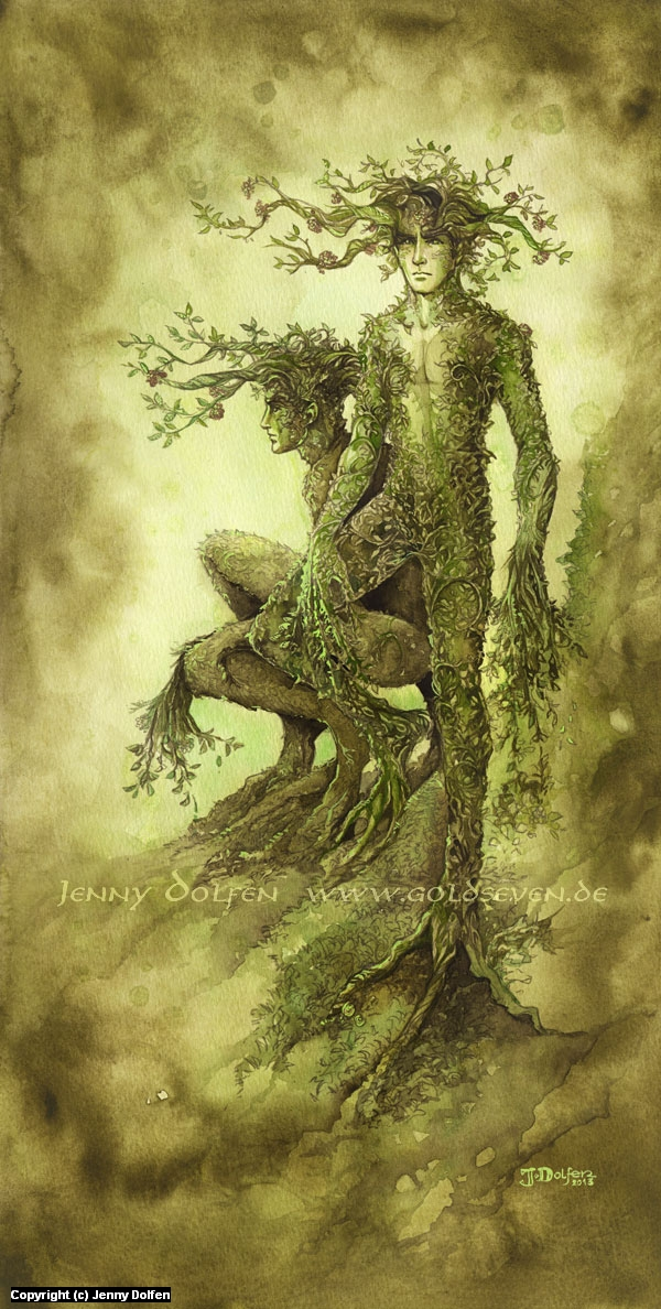 In the Deepest Wildwood Artwork by Jenny Dolfen