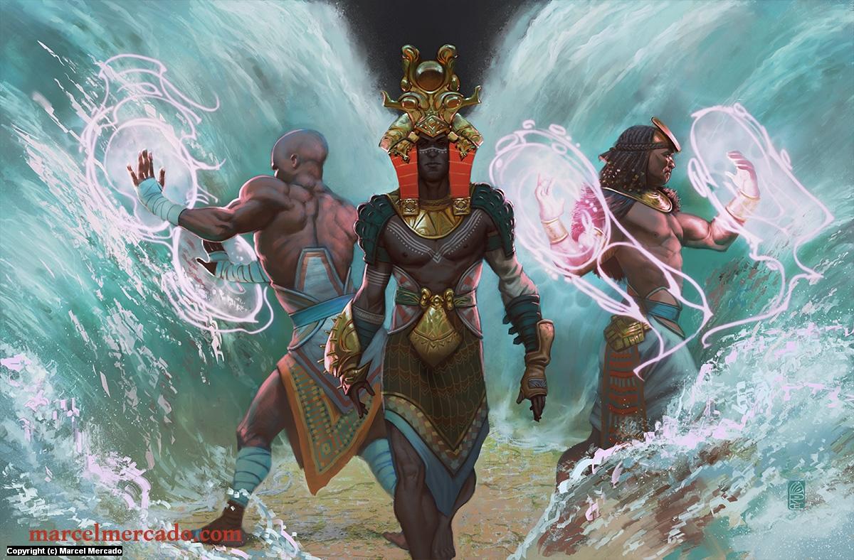 God Kings of Nuria Natal Artwork by Marcel Mercado