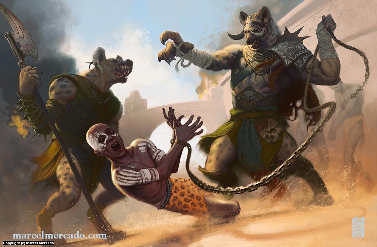 Gnoll Raiders Artwork by Marcel Mercado