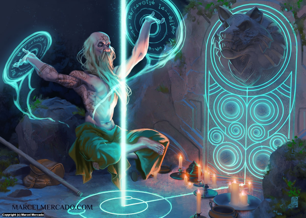 Ley Lines Magic Artwork by Marcel Mercado