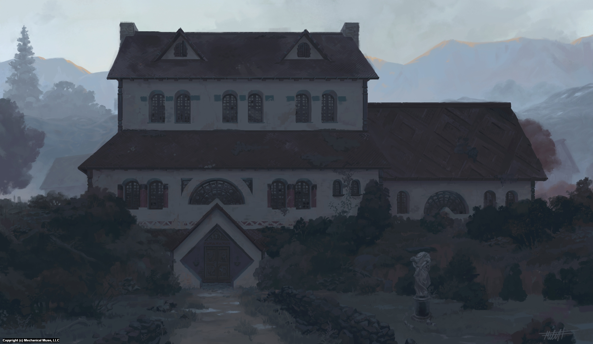 The Duke's Hunting Lodge Artwork by Mitchell Malloy