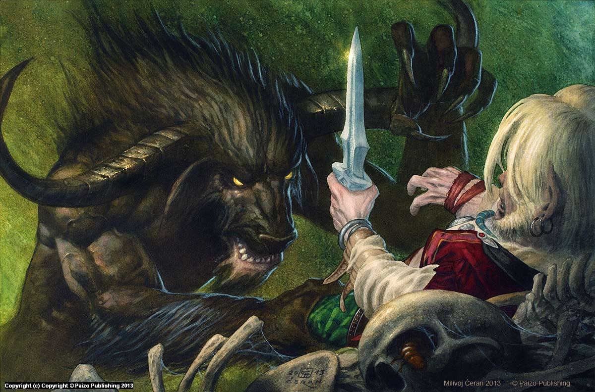 Demon in the Pit Artwork by Milivoj Ceran