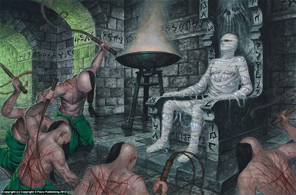 Lissala Cultist on Throne Artwork by Milivoj Ceran