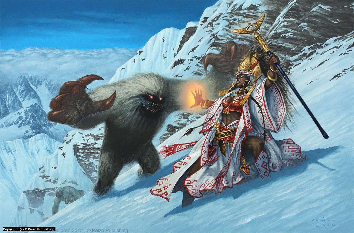Yeti Attack Artwork by Milivoj Ceran
