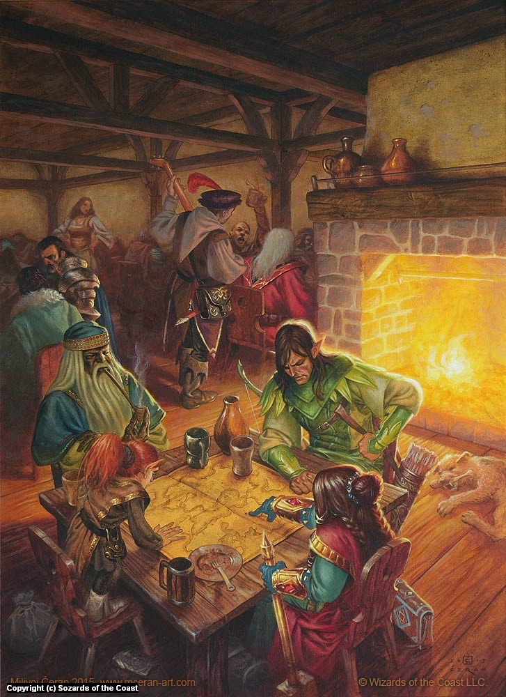 D&D, Races in the Realms Artwork by Milivoj Ceran