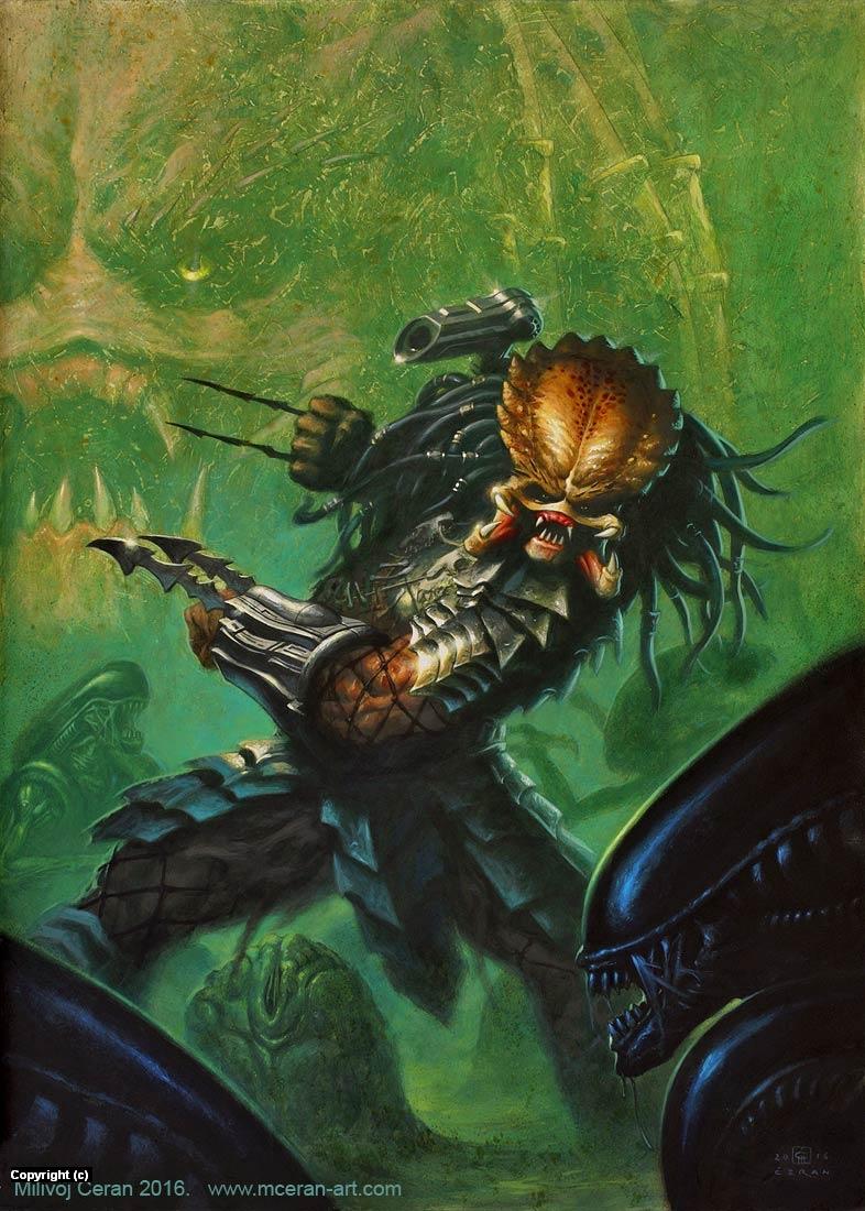 Alien vs Predator Artwork by Milivoj Ceran