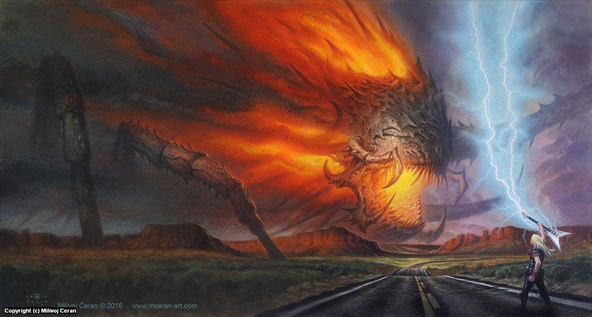 World in Fear cover Artwork by Milivoj Ceran