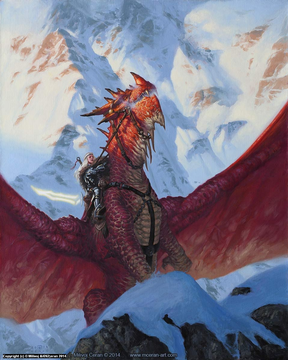 Dragon Rider Artwork by Milivoj Ceran