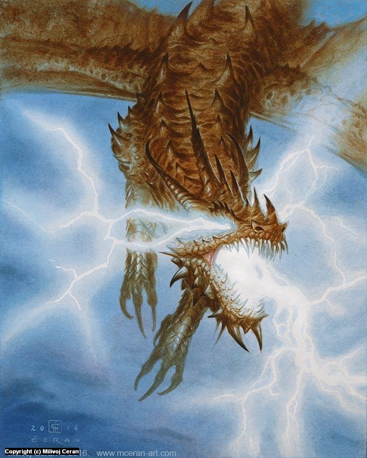 Lightning Dragon Artwork by Milivoj Ceran