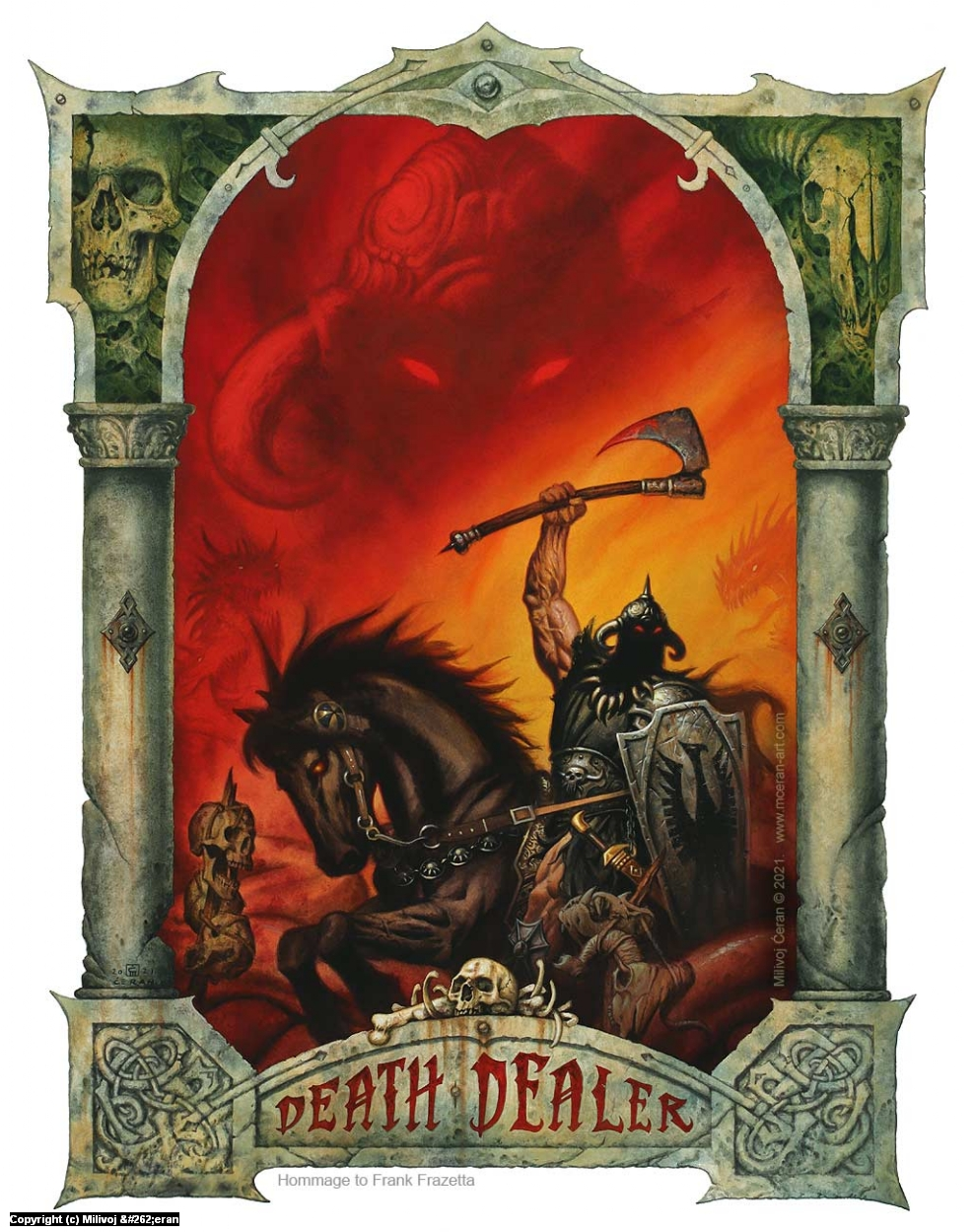 Death Dealer Artwork by Milivoj Ceran